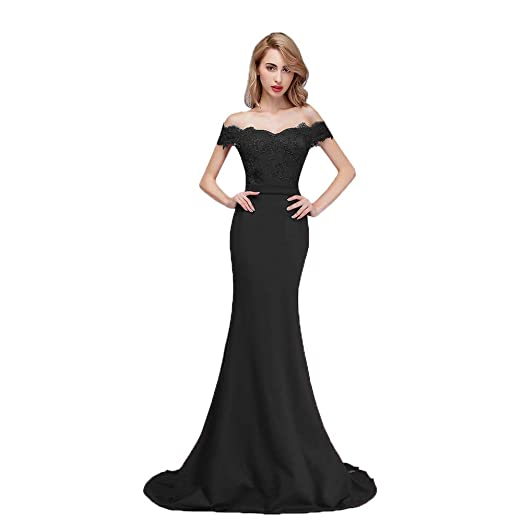 Honey Qiao Burgundy Off The Shoulder Mermaid Bridesmaid Dresses Long