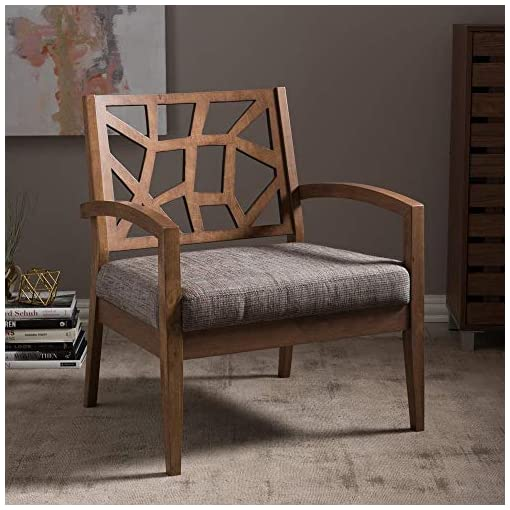 Farmhouse Accent Chairs Baxton Studio Jennifer Modern Lounge Chair with Fabric Seat, Gray farmhouse accent chairs
