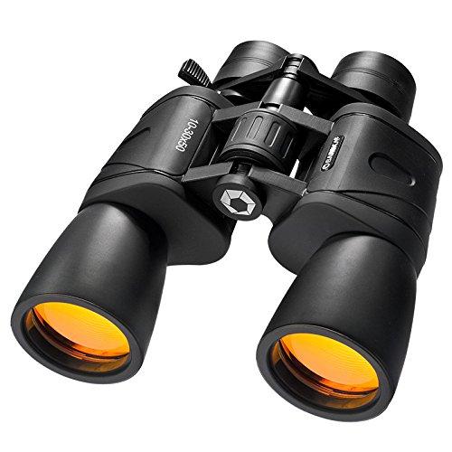 BARSKA 10-30x50mm Binoculars BK-7 Porro Prisms Gladiator Zoo