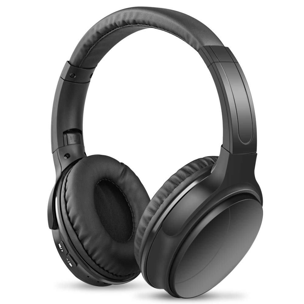 HX0945 Noise Reducing Headphones Wireless Bluetooth Over The Ear Headphones with Mic Passive Noise Blocking HiFi Stereo Headset