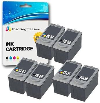 6 Compatibles PG-50 CL-51 Cartuchos de Tinta para Pixma MP140 ...