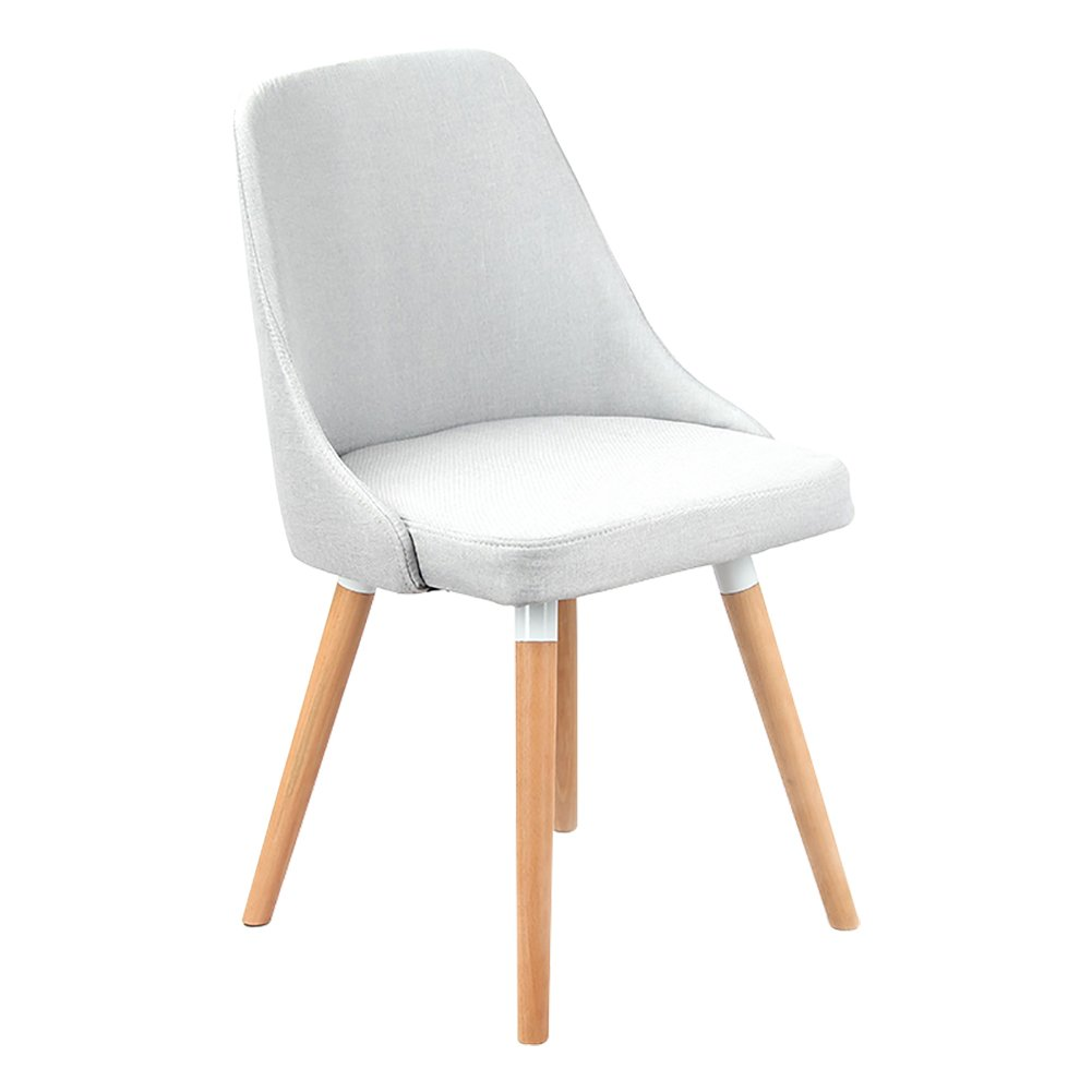 Light grey 42cmX42cmX45cm Solid Wood Backrest Chair,Nordic Creative Backrest Solid Wood Legs Chairs with Cushioned Pad Contemporary Designer for Office Lounge Dining Kitchen (color   Dark Grey, Size   42cmX42cmX45cm)