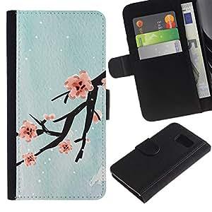 All Phone Most Case / Oferta Especial Cáscara Funda de cuero Monedero Cubierta de proteccion Caso / Wallet Case for Sony Xperia Z3 Compact // Design Cherry Blossom