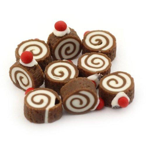 MyTinyWorld x 7 Maison De Poup/ées Chocolat De Miniature Roulade de Avec Cerise Hauts