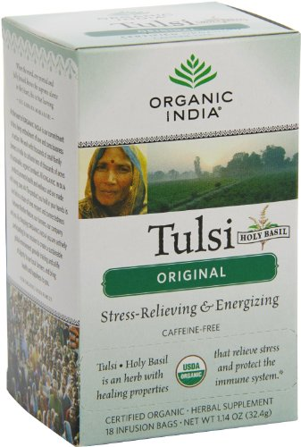 Organic India Original Infusion Tulsi Tea Bags, 1.14 Ounce (32.4 gram) (Plant Basil With Holy Pot)