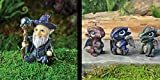 Cheap Bundle of 4 Fiddlehead Fairy Garden Miniature Items: A Wizard and 3 Assorted Baby Dragons