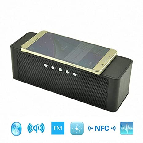 Portátil Qi Inalámbrico Cargador Bluetooth Altavoz con NFC ...
