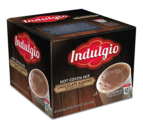Indulgio Chocolate Almond Hot Cocoa Single Serve K-cup, 42 Count (Compatible with 2.0 Keurig Brewers)