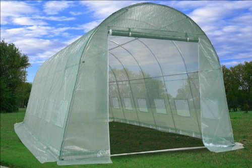 DELTA Canopies - Large Heavy Duty Green House Walk in Greenhouse Hothouse 20' X 10' 125 Pounds by DELTA Canopies  (Image #1)