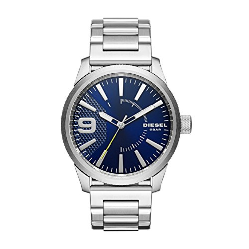 Diesel Men's 46mm Steel Bracelet & Case Quartz Blue Dial Analog Watch DZ1763