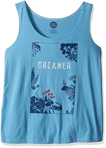 Life is good Simple Sleep Tank Dreamer Floral Top, Cloud Blue, (Life Is Good Cotton Boxers)