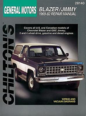 1969 chevy van wiring diagram chevrolet blazer and jimmy  1969 82  chilton total car care series  chevrolet blazer and jimmy  1969 82