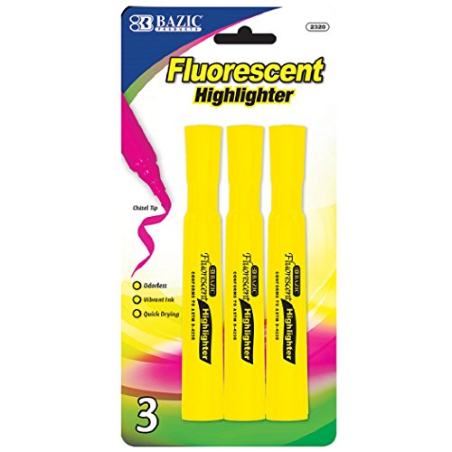 Yellow Fluorescent Highlighters- 4 Pack
