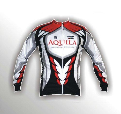 AQUILA Team Langarm Radsporttrikot für Rennrad-, MTB- und Freizeitradler - auch für andere Speedsportarten, z.B. Indoor Cycling und Speedskating