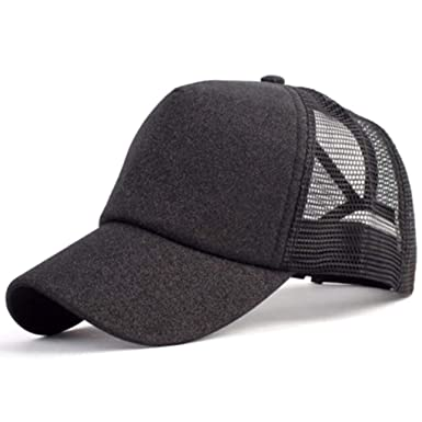 d344f33eba921 Glitter Ponytail Baseball Cap Women Snapback Hat Summer Messy Bun Mesh Sun  Hats Adjustable Sport Peaked