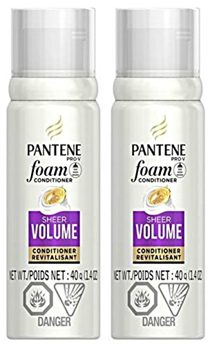 Pantene Pro-V Sheer Volume Foam Conditioner, 1.4 Travel size - 2 pack