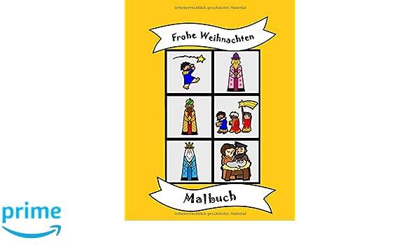 Amazon Com Malbuch Frohe Weihnachten Christentum