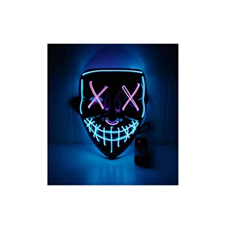 YYQ Halloween Neon Led Mask Party Costume Purge Masks ...