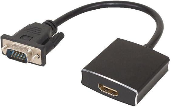 LEDMOMO 25M VGA a HDMI Salida HD 1080p TV AV HDTV Video Cable Convertidor Adaptador para Audio HDTV Monitor Displayers Laptop Ordenador de Escritorio – Negro: Amazon.es: Electrónica