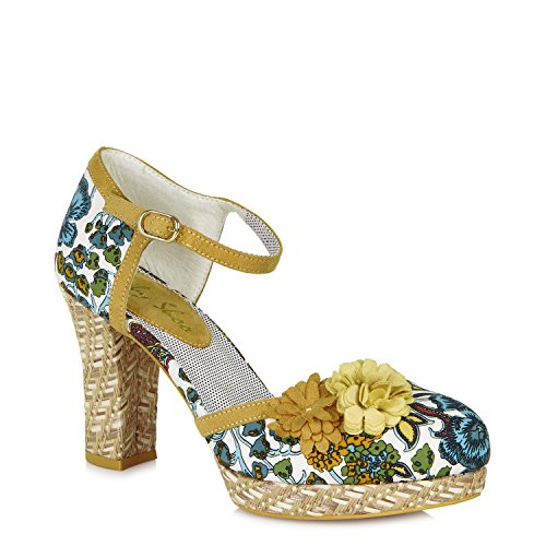 Ruby Shoo Flo Shoes Yellow Orange MMwvO3OO4