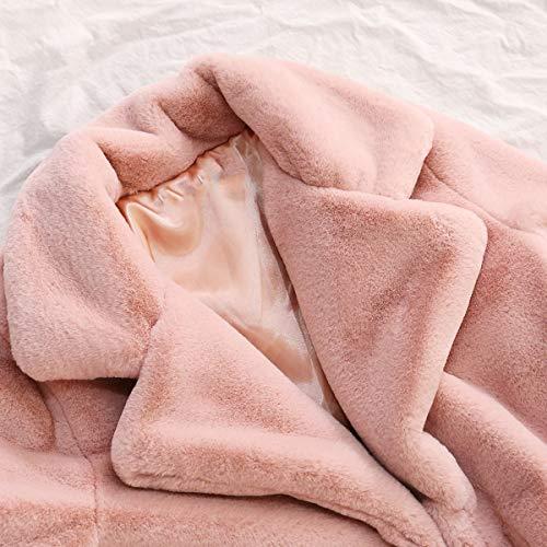 Pelle Maniche Lunghe Sciolto Capispalla Sintetica Con Pink In zSPXnExqw