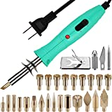 Upgrade Wood Burner Kit,Gernround Wood Burning Kit Dual-power Pyrography Pen Wood Burning Tool