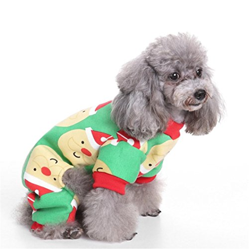 New Arrivals!!Christmas Pet Costume,Lelili Christmas Cute And Fresh Animal Pattern Printed Pets Dog Cat Clothes (S)