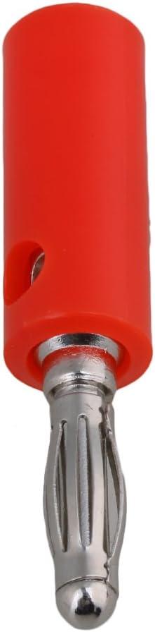 RDEXP 40pcs Nickel Plated 4mm Multimeter Probe Banana Plug Male Screw Type Connectors