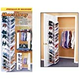 Shoes Away Hanging Organizer Organize 30 Pairs Space Closet TV Holder Over Door by Storage Dynamics