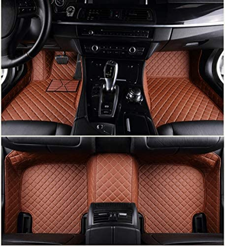 Custom Car Floor Mats Full Surrounded Waterproof Anti-Slip All Weather Protection Leather Material Car mat Carpet Liners Interior Accessories Brown