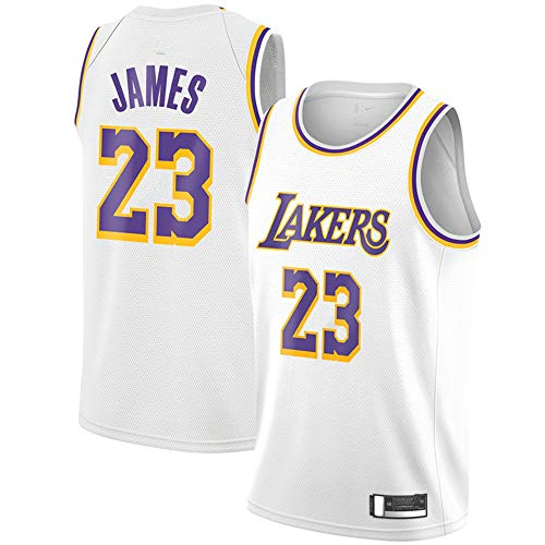 Youth #23_Lebron_James_Los Angeles_Lakers_Purple Replica Swingman Jersey - Statement Edition (White, Youth L)