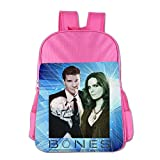Bones TV Series Children's School Bag For 4-15 Years Old (2 Colors) Pink