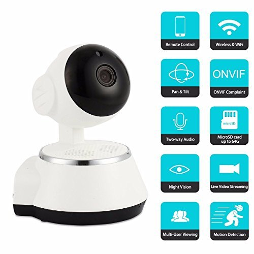 Wireless Baby Monitor, M.Way Video Baby Wifi Monitor HD 720P Remote Home Security Network CCTV IP Camera Night Vision WIFI Webcam (Cctv Wi Fi compare prices)