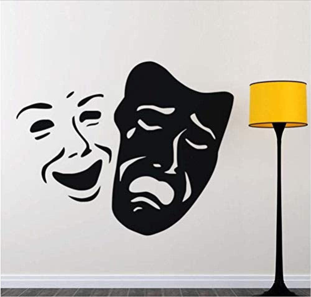 Máscara Sonrisa Y Cara Triste Decoración Del Hogar 73x58Color ...