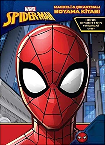 Amazon Com Marvel Spider Man Maskeli Ve Cikartmali Boyama