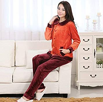 GZZ Inicio Hotel Albornoz Robe Parejas Pijamas Transpirables Franela Manga Larga Pantalones Comodidad Servicio a Domicilio
