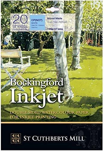 Bockingford Inkjet Paper - 190gsm A3+ (330x483mm) - Pack of 20