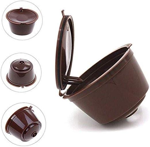Milopon - 2 cápsulas de café para cafetera Dolce Reutilizable i ...