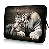 "ICOLOR Neoprene Laptop Case Waterproof Sleeve Bag Pouch for 16"" 17"" 17.4""Pro/HP/Acer/Dell/Asus/Samsung Notebook Tiger"