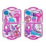 Its Girls Stuff - Fold Open Plastic Vanity Case Play Set - Pretend Beauty Toys