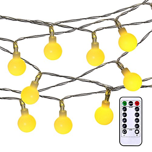 luckled battery powered dimmable globe string lights 17 4. Black Bedroom Furniture Sets. Home Design Ideas