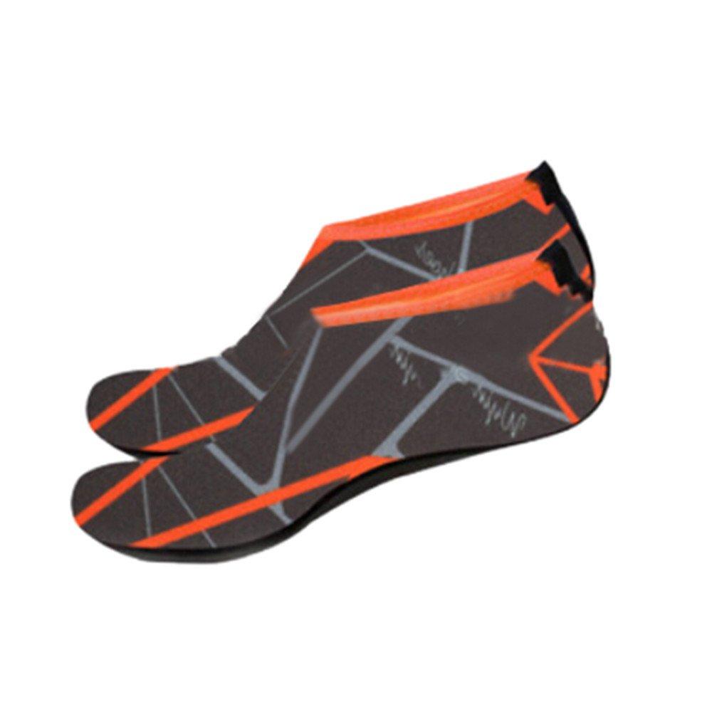 Han Shi Water Shoes, Men Women Fashion Outdoor Sports Diving Swim Soft Beach Yoga Socks (M, Gray)