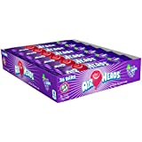 AirHeads Candy Individually Wrapped Bars, Grape, Non Melting, 0.55 Ounce (Pack of 36)