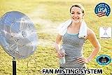Mistcooling Outdoor Fan Mist Kit, 25-Inch Diameter - 10 Brass / Stainless Steel Nozzles