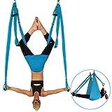 Yoga Swing, Ultra Strong Antigravity Yoga Hammock, Aerial Flying Hammock, Sling, Inversion Tool Yoga Fitness for Air Yoga Inversion Exercises, Blue