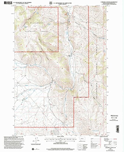 (Caboose Canyon MT topo map, 1:24000 scale, 7.5 X 7.5 Minute, Historical, 1997, updated 2002, 26.8 x 21.9 IN - Tyvek)