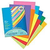 Pacon PAC101169BN Card Stock, Colorful Assortment, 10 Colors, 8-1/2'' x 11'', 100 Sheets per Pack, 2 Packs
