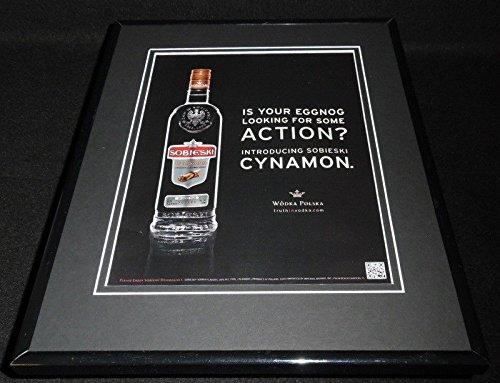 2011 Sobieski Cynamon Vodka Framed 11x14 ORIGINAL ()