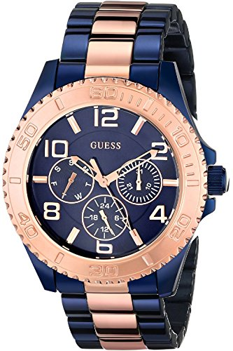 GUESS W0231L6,Ladies Blue & Rose Gold Tone,Multi-Function,Stainless Steel Case,50m WR