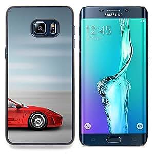Jordan Colourful Shop - Supercar Sprotscar Fast Car Red Blurry Speed For Samsung Galaxy S6 Edge Plus - < Personalizado negro cubierta de la caja de pl??stico > -
